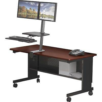 Desk Mounted Sit/Stand Workstation - Dual Monitor, Lot of 1