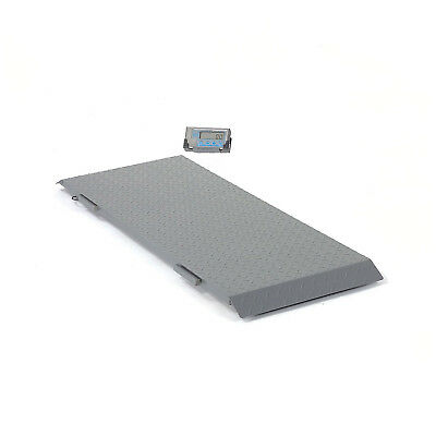 "Brecknell Low Profile Digital Floor Scale, 2,000lb x 1lb, 59"" x 30"" Platform,"