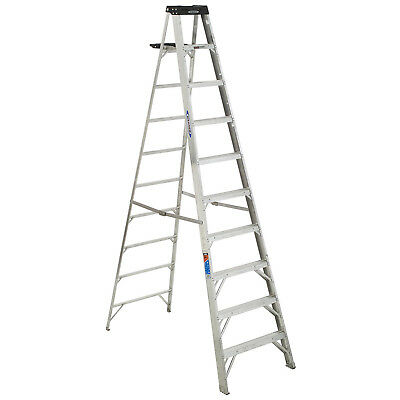 Werner 310 10' Type 1A Aluminum Step Ladder, Lot of 1