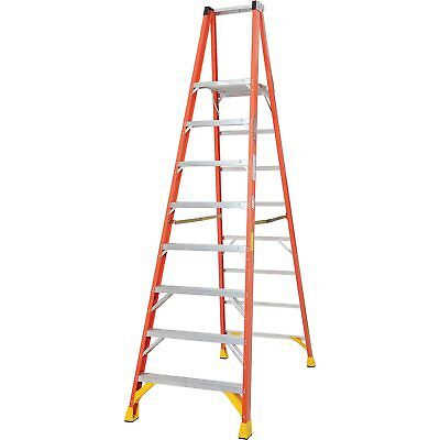 Werner P6208 8' Fiberglass Platform Step Ladder 300 lb. Cap, Lot of 1