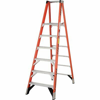 Werner P7406 6' Fiberglass Platform Step Ladder 375 lb. Cap, Lot of 1