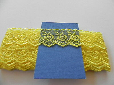Yellow Silky embroidered Lace - 4cm