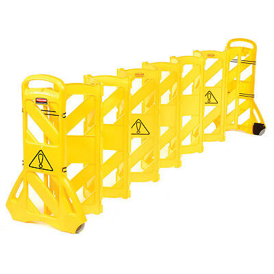 Rubbermaid FG9S1100YEL Extendable Mobile Barrier, Lot of 1