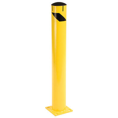 """42"""" x 5-1/2"""", Steel Bollard With Removable Plastic Cap & Chain Slots, Existing"""
