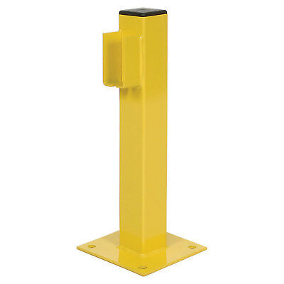 """20""""H Single Rail End Post, Steel, Yellow, Lot of 1"""