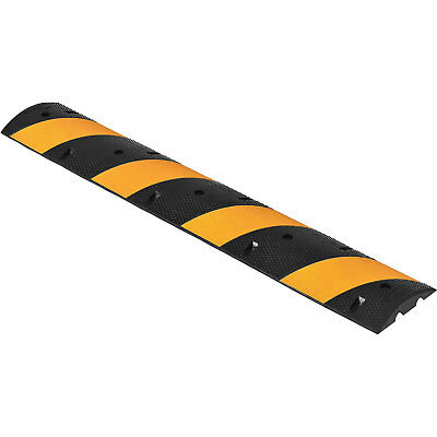 """Rubber Speed Bump, 72"""" Portable, Yellow Stripes, Lot of 1"""
