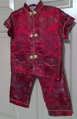 Toddler Chinese style top/pants outfit- Size 4