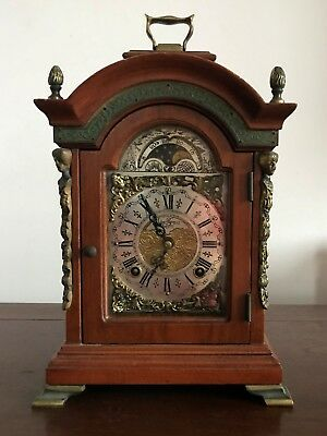 Old Mantle Bracket Shelf Clock moonphase John Thomas London