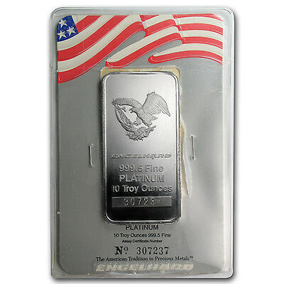 10 oz Platinum Bar - Engelhard (In Assay) - SKU #76725