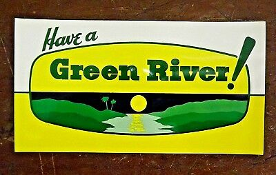 "Vintage 1960's GREEN RIVER SODA ADVERTISING POSTCARD / 7"" x 3-3/4"""