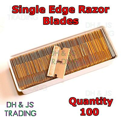 Single Edge Razor Blades - Window Scraper Blade Oven Clean Craft Art Box of 100
