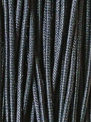 2/6 Pairs Waxed/Non-WaxedCotton Round Shoelaces Black  2,3,4,5mm Shoe,Boot Laces