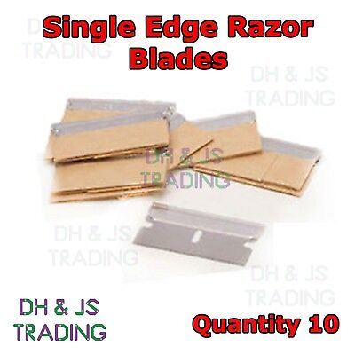 10 x Single Edge Razor Blades - Window Scraper Blade Oven Cleaning Craft Art