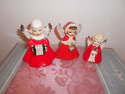 Christmas, Vintage angels from 50's, No damage or chip's. made in japan. set??
