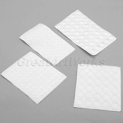 1 Sheet Self-Adhesive Pads Clear Silicone Rubber Door Furniture Buffer Bumper