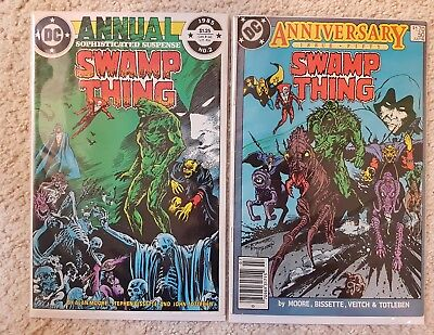 DC Swamp thing #50 & Annual #2 JUSTICE LEAGUE DARK!!