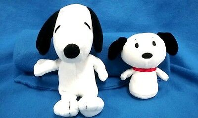 Ty Peanuts Snoopy Beanie and Snoopy Itty Bitty Beanie Lot