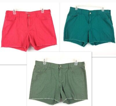 Old Navy Shorts Lot Sweetheart Women's 3PC Green Pink Wholesale Bulk Size 16