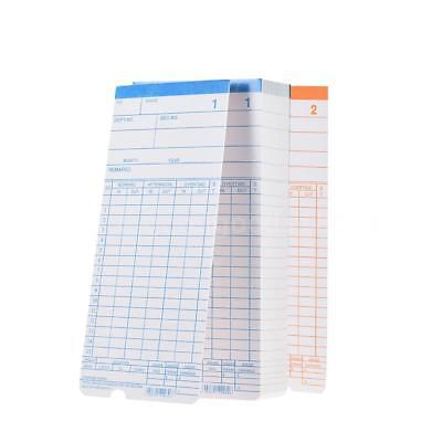 90pc/Pack Time Cards Monthly 2-Sided 18*8.4cm for Attendance Time Clock T1X2