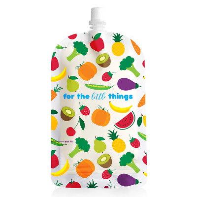 New Sinchies Fruit Food Pouches Reusable Packaging BPA Free Baby 200ml 5 Pack