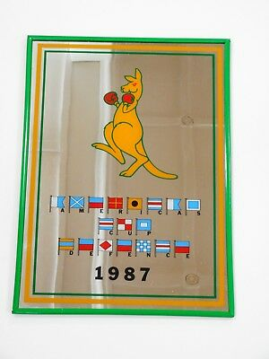 1987 Americas Cup Defence Mirror / Green & Gold With Boxing Kangaroo