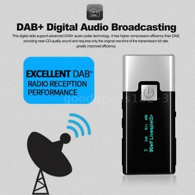 Mini Portable Pocket Handheld DAB Receiver Digital FM Radio Rechargeable Battery
