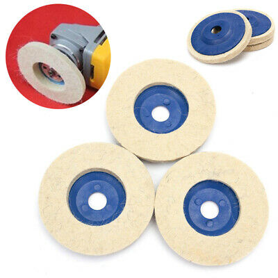 3pcs 100mm 4 Inch Wool Buffing Angle Grinder Wheel Felt Polishing Disc Pad Set