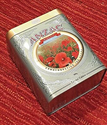 Anzac Biscuit Tins Poppy Limited Edition, Anzac Collectible Tins, Anzac Day Gift