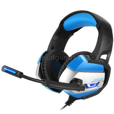 ONIKUMA Gaming Headset 3.5mm Stereo Headphones USB LED w/ Omni-directional Z7U0