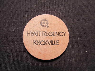Knoxville, Tennessee Wooden Nickel token- Hyatt Regency Wood G/F Draft Beer Coin