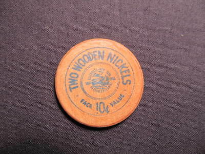 1955 Ellenville, New York Wooden Nickel Token - Ellenville, NY 150 Wood Coin BLU