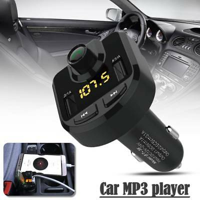 Car Kit MP3 Player FM Transmitter Bluetooth Wireless Radio Adapter 2 USB Charger