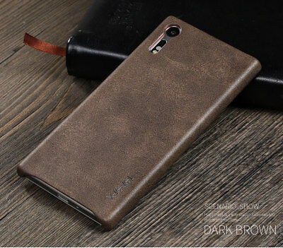 Genuine Retro Shockproof PU Leather Case Cover For Sony Xperia Various Phones
