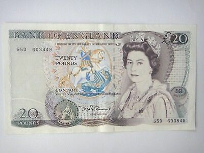 RARE  UK GREAT BRITAIN £20 Pounds BANK OF ENGLAND  EF+++ CIRCULATED NOTE