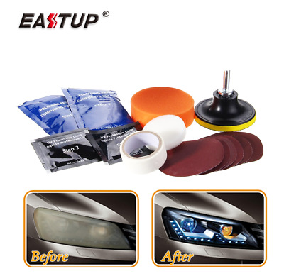 Headlight Lens Restoration Kit Taillights Restorer Systems, Paint Restore Tools