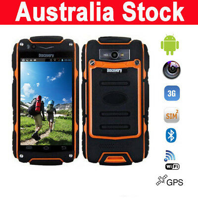 Android 3G Rugged SmartPhone Discovery V8 Dual Core 4.0 Inch 5.0MP Mobile Phone