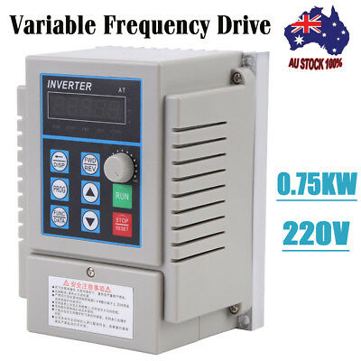 220V 0.75KW 5A Single Phase 3PH Variable Frequency Speed Drive VFD Converter