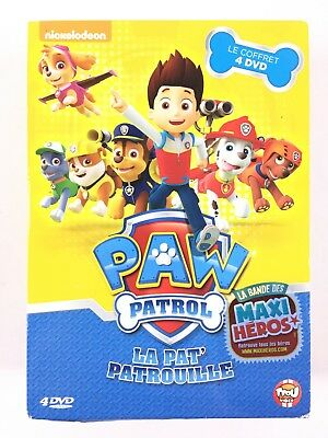 paw patrol la pat 39 patrouille coffret 4 dvd super pompier sauvetage express eur 11 99. Black Bedroom Furniture Sets. Home Design Ideas