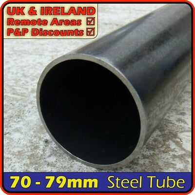 "Mild Steel Round Tube ║ 75mm - 79mm outside diameter ║ 3"" pipe section,post,pole"