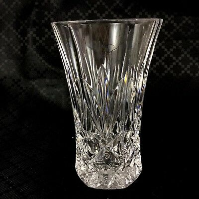 Vintage Cut Glass Crystal Vase Mid Century Small Posy 1970s 80s