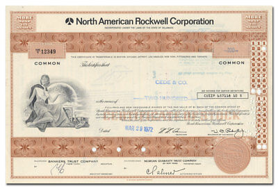 North American Rockwell Corporation Stock Certificate
