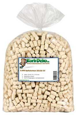 100-2000 tapered corks conical L=22mm ⌀=13-16mm test tubes bung stopper 22x16/13