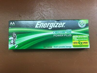 10 Energizer AA Rechargeable POWER PLUS Batteries 2000 mAh NEW Pre-Charged