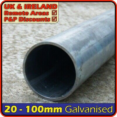 Galvanised Steel Round Tube ║ 20mm - 100mm outside diameter ║ pipe,pole,post,chs