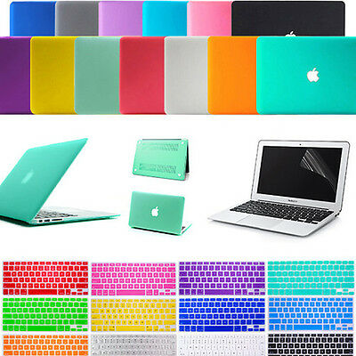 """Transparent Case Cover for Apple MacBook Air 13.3"""" inch + Keyboard cover A1466"""