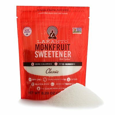 Lakanto Classic Monk Fruit Sweetener 235g, Sugar Free, Low Carb, Zero Calories