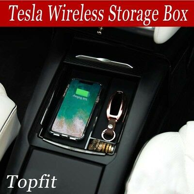 Topfit Car Container, Center Console Armrest Storage with wireless charging