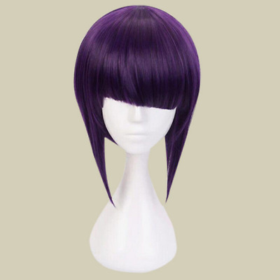 Jirou Kyouka Fans Costume Short Hair Straight Wig Purple Color My Hero Anime