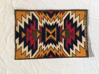 Circa 1910 Tobacco Felt With Indian Design
