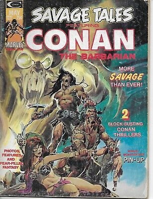 Vintage Marvel 1974 SAVAGE TALES Featuring CONAN THE BARBARIAN #4 Comic Book